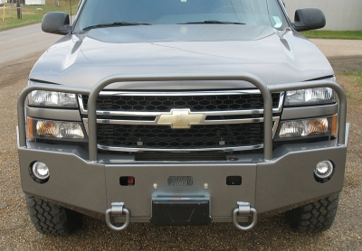 Front winch bumper GMC/Chevy HD and 1500 pickups, Suburban, Yukon, Tahoe  (2000-07)